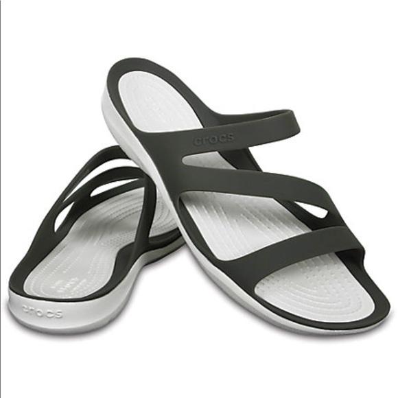 d3003b6d2a1 CROCS Shoes - CROCS Swiftwater Sandal Water Friendly Smoke White